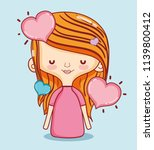 kids and love cartoons | Shutterstock .eps vector #1139800412