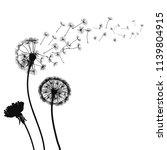 abstract black dandelions ... | Shutterstock .eps vector #1139804915
