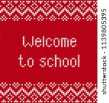 back to school banner with text ... | Shutterstock .eps vector #1139805395