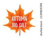 autumn sale flyer colorful... | Shutterstock .eps vector #1139805398
