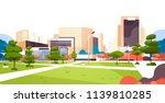 urban city park skyscraper... | Shutterstock .eps vector #1139810285
