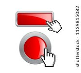 red glossy web buttons  click... | Shutterstock .eps vector #1139815082