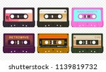vector compact audio cassettes... | Shutterstock .eps vector #1139819732