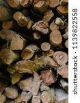 pile of firewood backgrounds... | Shutterstock . vector #1139822558