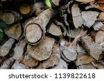 pile of firewood backgrounds... | Shutterstock . vector #1139822618