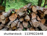 pile of firewood backgrounds... | Shutterstock . vector #1139822648