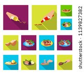 cooking food flat icons in set...   Shutterstock .eps vector #1139827382