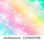 glitter rainbow background. the ... | Shutterstock .eps vector #1139829398