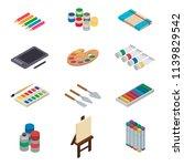 artist tools vector watercolor... | Shutterstock .eps vector #1139829542
