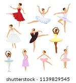 ballet dancer vector ballerina... | Shutterstock .eps vector #1139829545