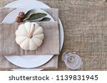 thanksgiving day or halloween... | Shutterstock . vector #1139831945