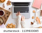 workspace with red and yellow... | Shutterstock . vector #1139833085