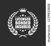 licensed bonded insured vector... | Shutterstock .eps vector #1139833808