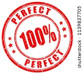 perfect 100 vector stamp on... | Shutterstock .eps vector #1139837705