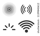 signal icons vector set... | Shutterstock .eps vector #1139840612