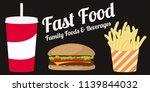 fast food illustration of soda...   Shutterstock .eps vector #1139844032