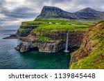 gasadalur village and beautiful ... | Shutterstock . vector #1139845448
