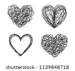 set of four tangled grungy... | Shutterstock .eps vector #1139848718