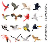 flying birds high quality icons ... | Shutterstock .eps vector #1139853542