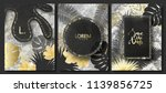 luxury cards collection with... | Shutterstock .eps vector #1139856725