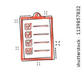 vector cartoon to do list icon... | Shutterstock .eps vector #1139857832