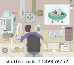 the inventor at work. a... | Shutterstock .eps vector #1139859752