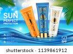 spf and uv protect. sun...   Shutterstock .eps vector #1139861912