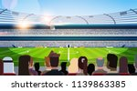 empty football stadium field... | Shutterstock .eps vector #1139863385