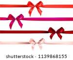 red ribbons decor | Shutterstock .eps vector #1139868155