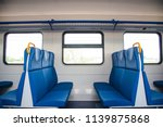 inside of a train cabin with... | Shutterstock . vector #1139875868