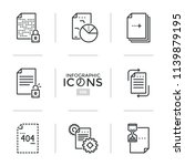 bundle of thin line icons or... | Shutterstock .eps vector #1139879195