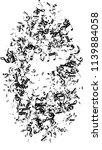 black musical notes on white... | Shutterstock .eps vector #1139884058
