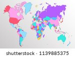 color world map vector | Shutterstock .eps vector #1139885375