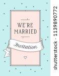 wedding invitation. vintage... | Shutterstock .eps vector #1139890772