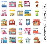 street food kiosk icons set....   Shutterstock .eps vector #1139892752