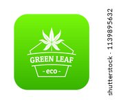 eco food icon green vector...   Shutterstock .eps vector #1139895632