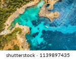 aerial view of transparent sea... | Shutterstock . vector #1139897435