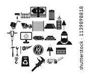 building material icons set.... | Shutterstock .eps vector #1139898818