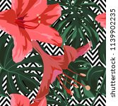 tropical print. jungle seamless ...   Shutterstock .eps vector #1139902235