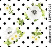 seamless dots style floral... | Shutterstock .eps vector #1139905028