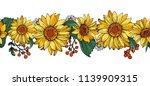 seamless borders pattern brushe ... | Shutterstock .eps vector #1139909315