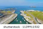 ballintoy harbour near giants... | Shutterstock . vector #1139911532