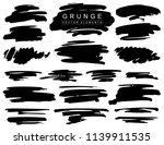 collection of black paint  ink... | Shutterstock .eps vector #1139911535