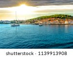 boats in the harbor of the... | Shutterstock . vector #1139913908