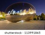 Millennium Park  Chicago. Cloud ...