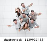 top view.a happy team of young... | Shutterstock . vector #1139931485