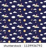 good night pattern background | Shutterstock .eps vector #1139936792