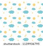 good night pattern background | Shutterstock .eps vector #1139936795