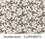 white lace isolated on gray... | Shutterstock . vector #1139938472