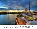 putra mosque in putrajaya ...   Shutterstock . vector #113994916
